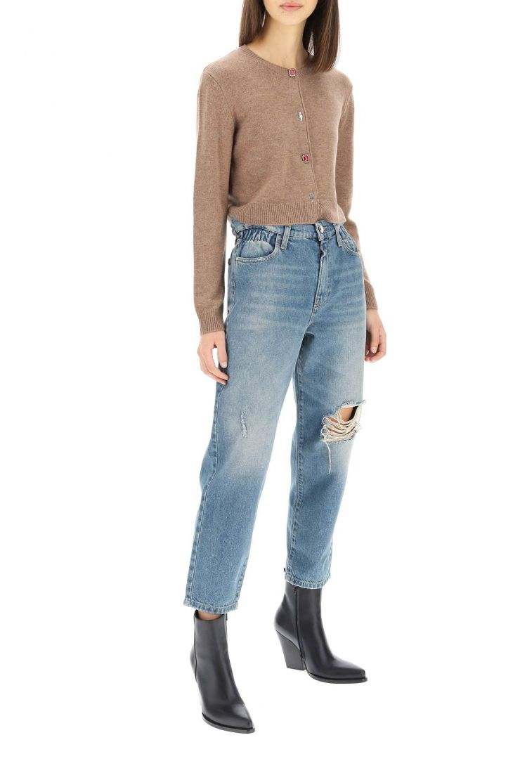 pinko jeans maddie mom fit paperbag jeans