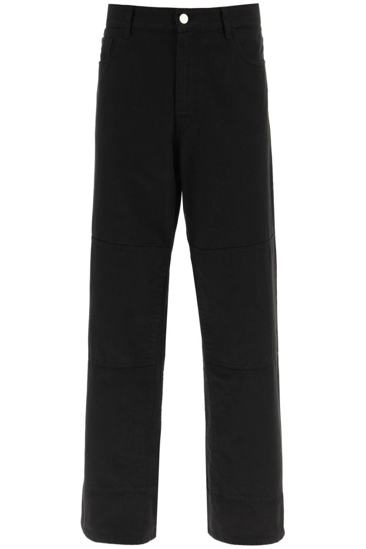 raf simons jeans workwear jeans with knee patches