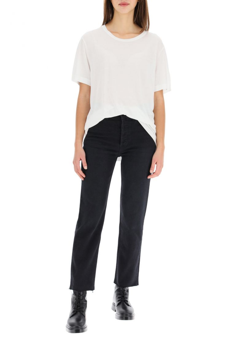 re/done what to wear high rise stove pipe jeans