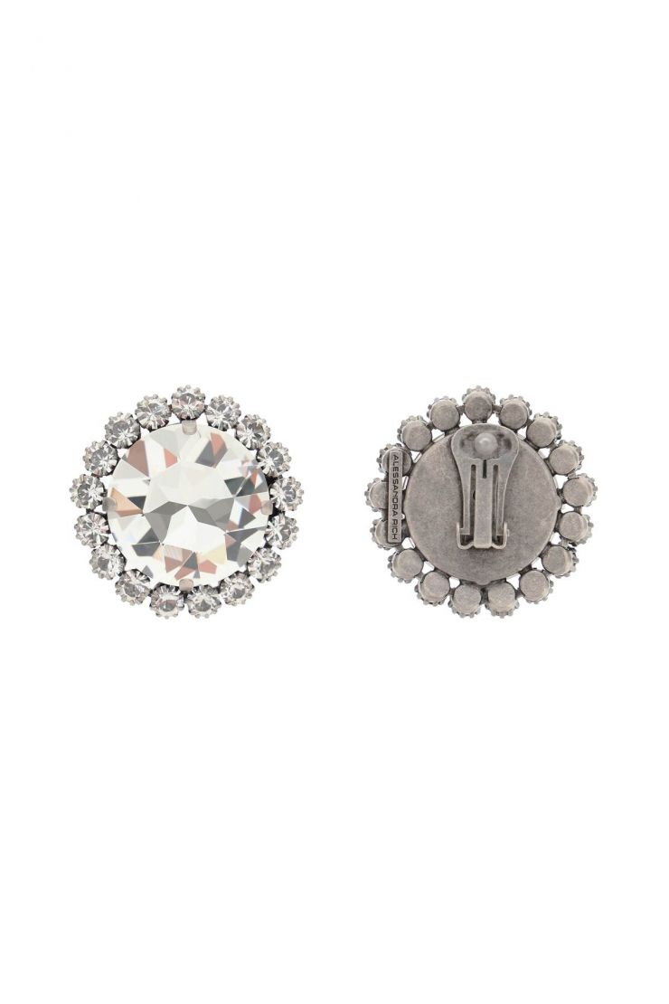 alessandra rich jewellery clip earrings with crystals