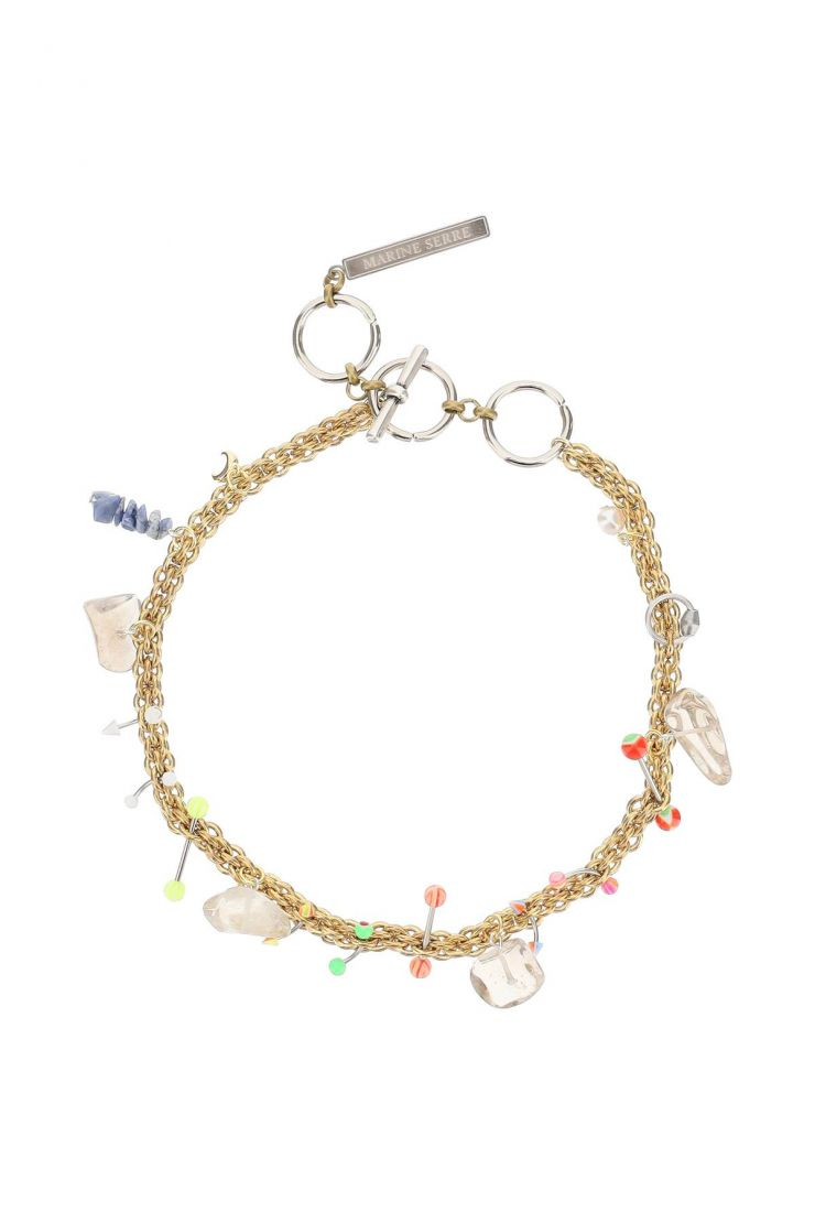 marine serre jewellery psychotropic necklace with charms