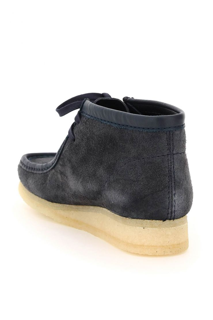 clarks bra252 wallabee suede leather lace-up boots
