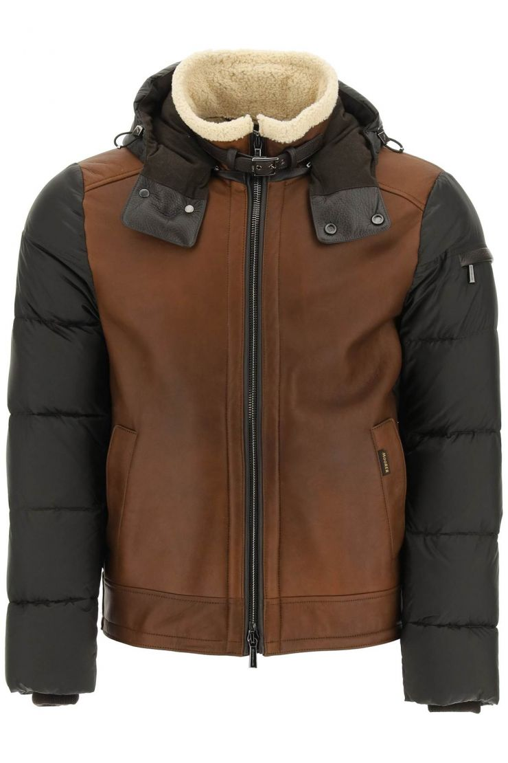 moorer capi in pelle jacket shearling smith-mes