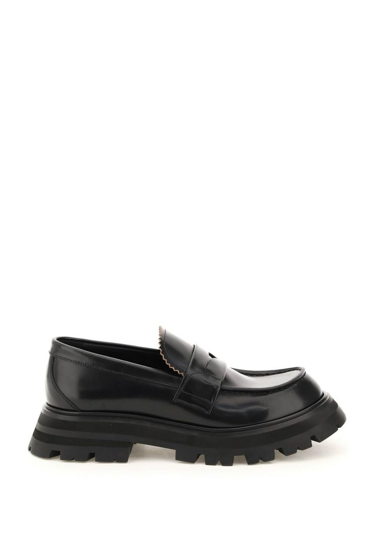 alexander mcqueen moccasins wander leather moccasin
