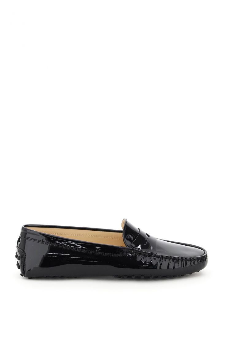 tod's moccasins gommini patent loafers