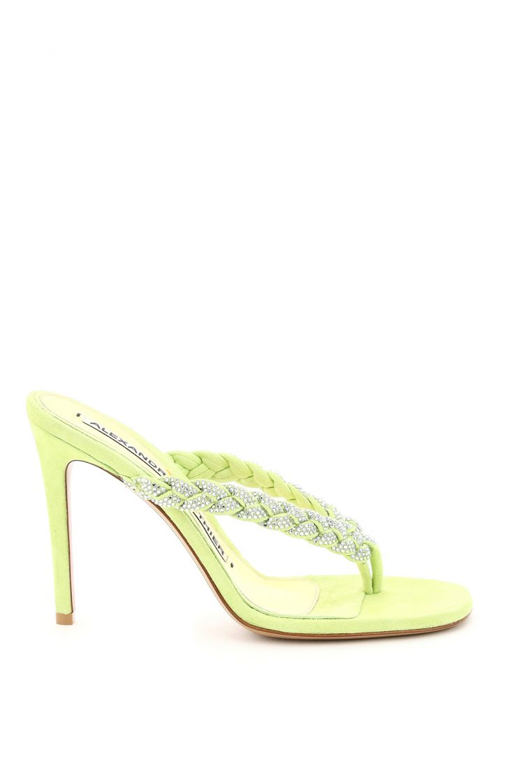 alexandre vauthier the shoes edit jojo thong mules with crystals