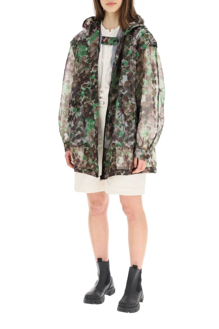 mr & mrs italy parka parka in organza camouflage