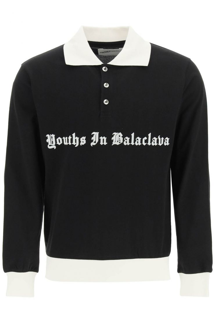 youths in balaclava polo polo stampa logo flock