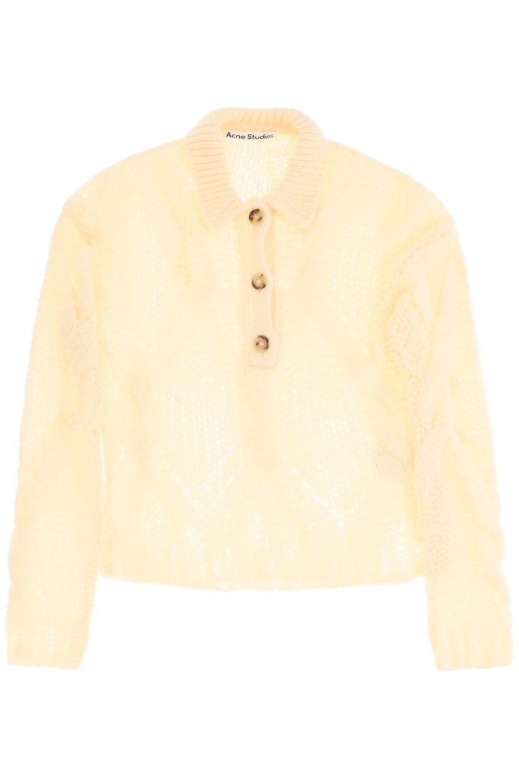 acne studios pullovers korlie cable-knit sweater