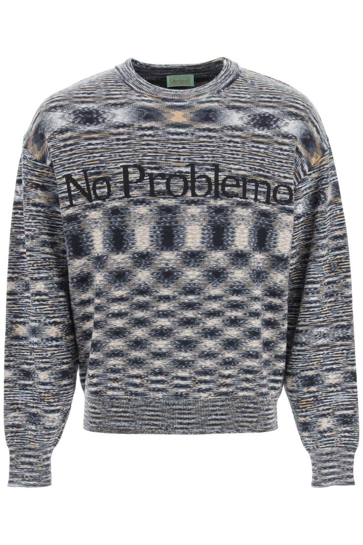 aries pullovers space dye no problemo sweater
