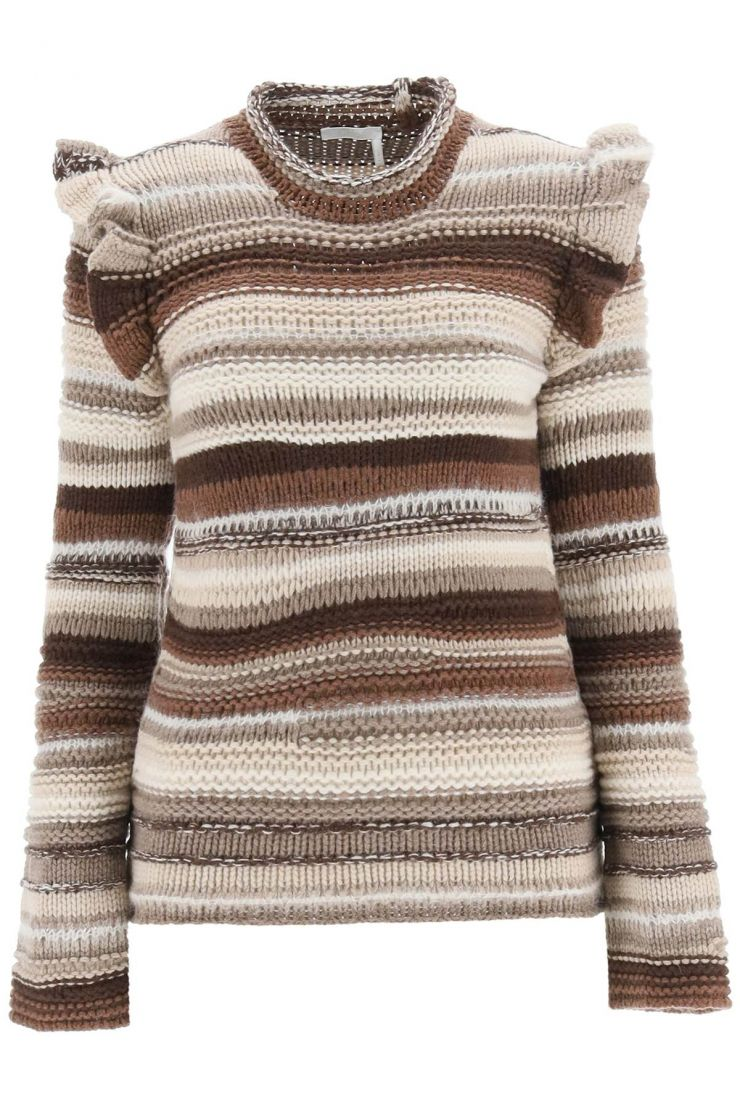 chloe' clothing striped cashmere sweater