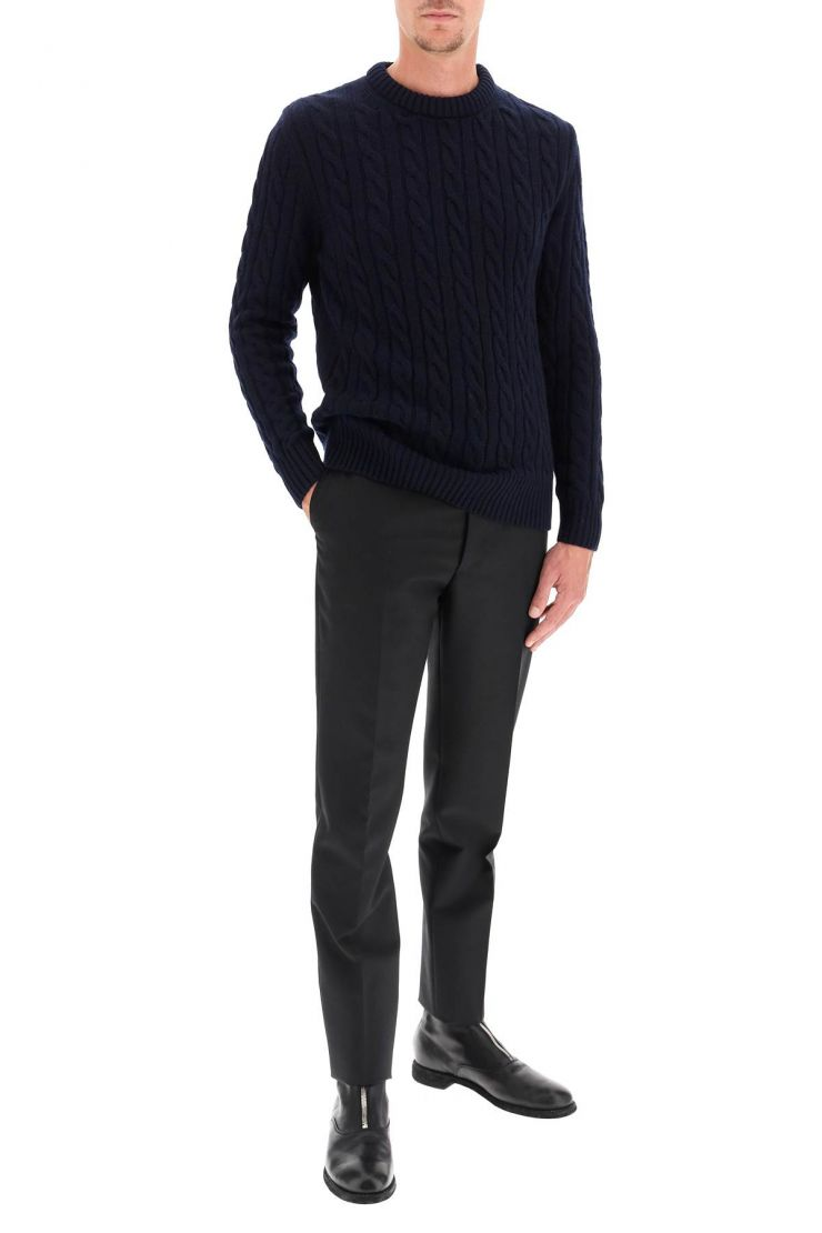 gm77 pullovers cable knit lambswool sweater