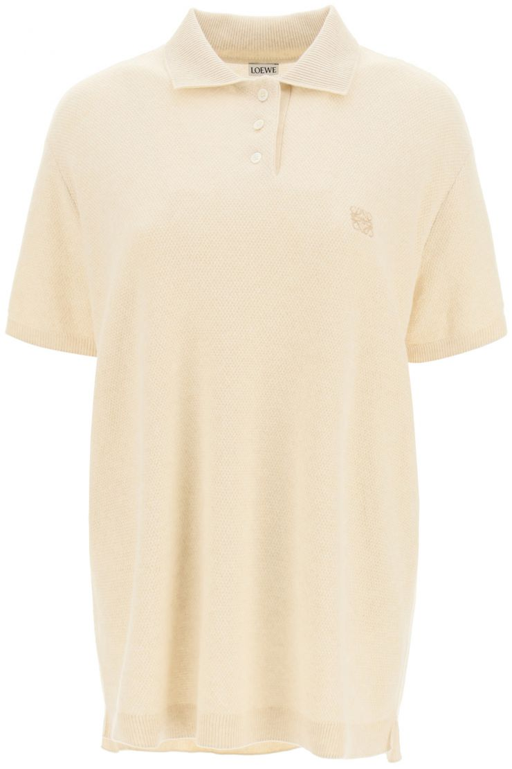 loewe pullovers anagram embroidery polo shirt