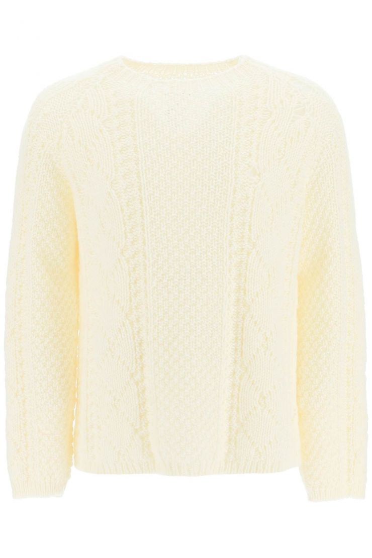 maison margiela pullovers destroyed wool sweater