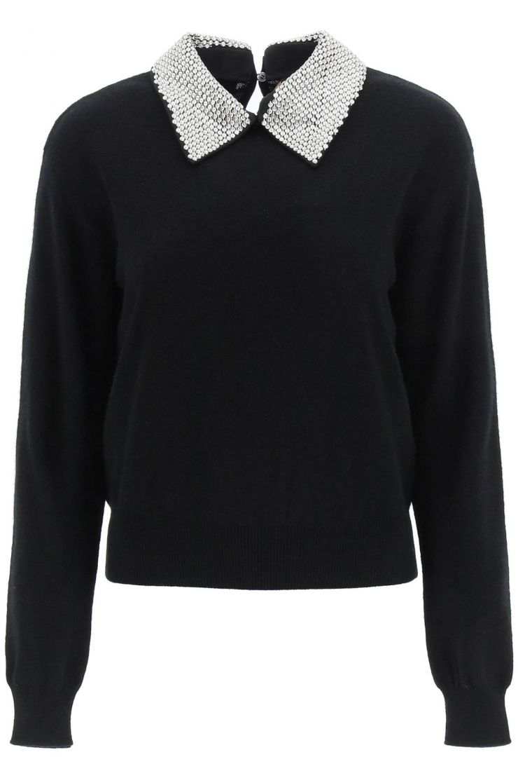 n.21 knitwear sweater with contrast collar