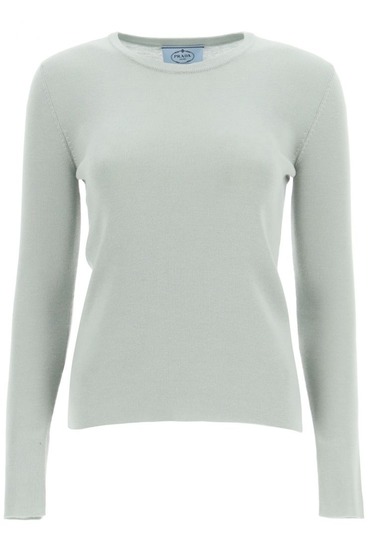 prada what to wear cashmere and silk sweater