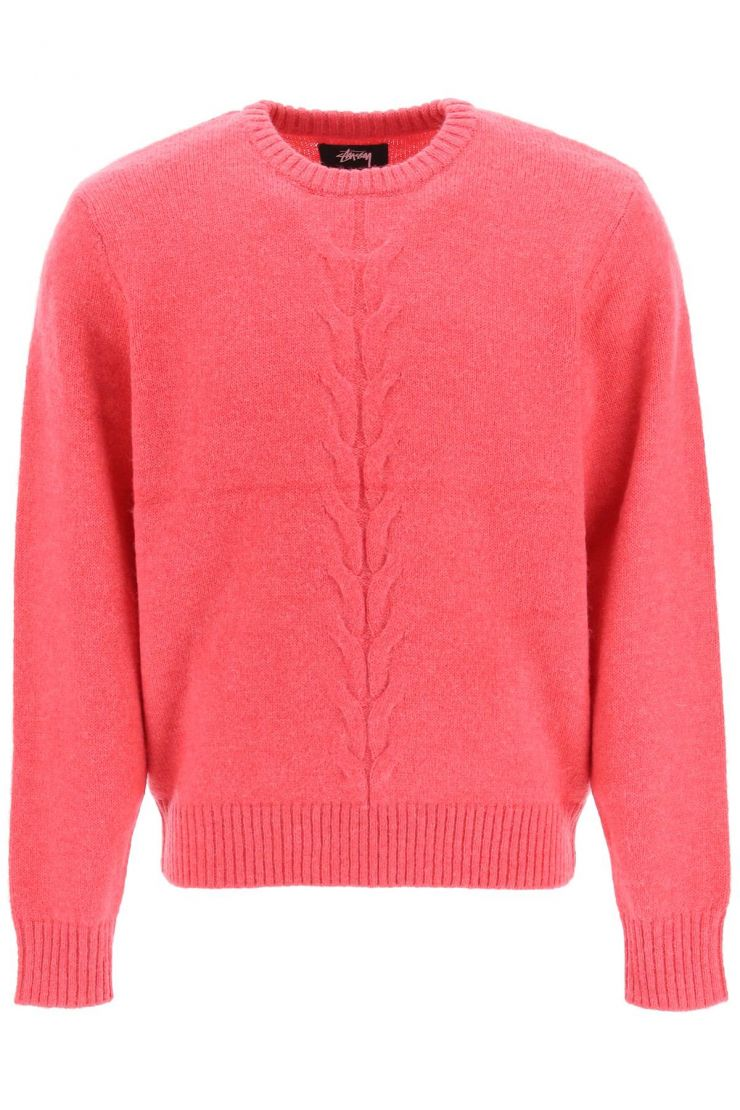 stussy pullovers double cable sweater