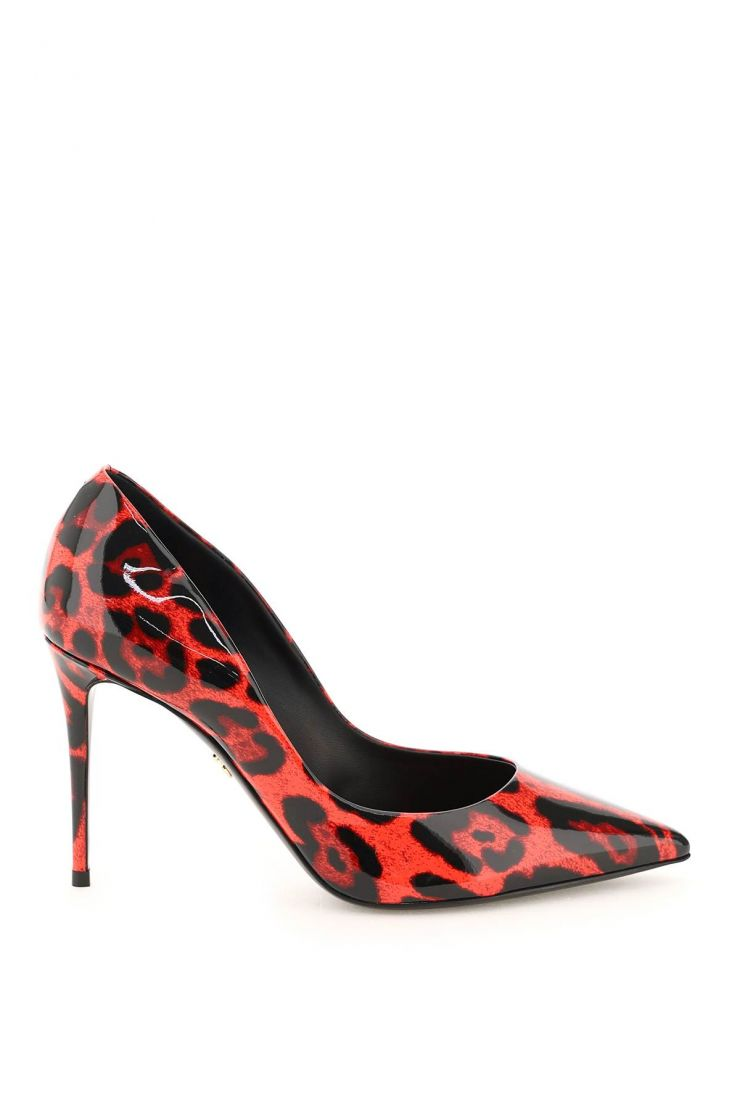 dolce & gabbana pumps printed patent leather pumps