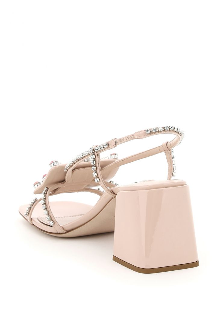 miu miu the shoes edit crystal embroidered sandals