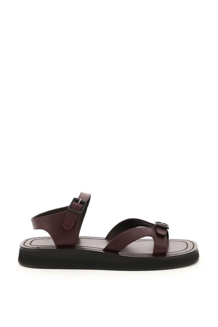 the row sandals geri leather sandals