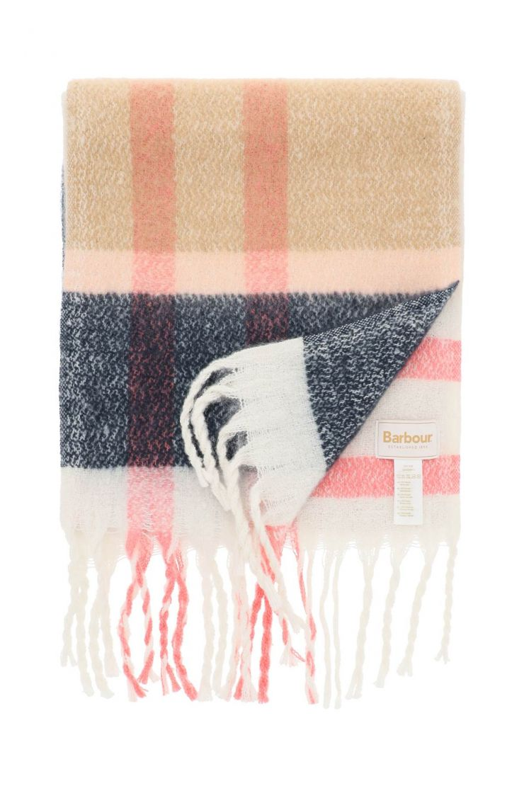 barbour scarves, hats and gloves tartan isla scarf