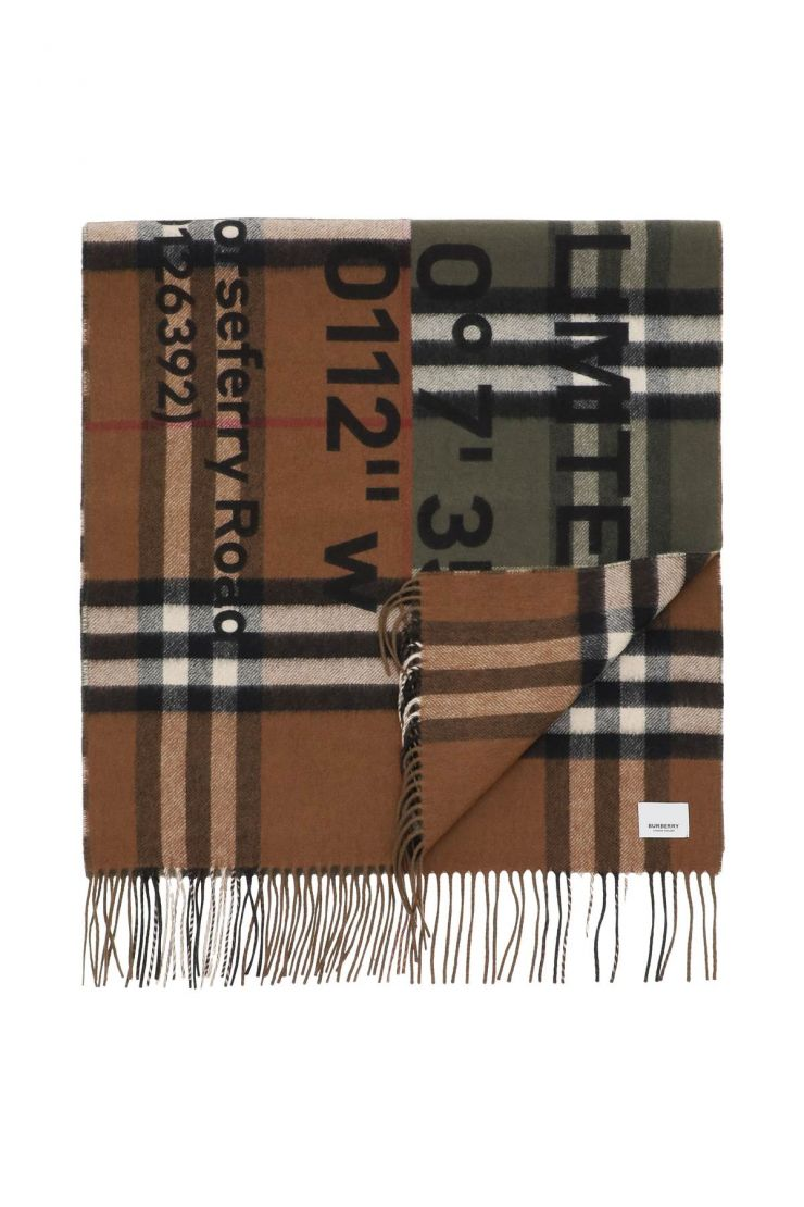 burberry scarves, hats and gloves horseferry print bicolor check scarf