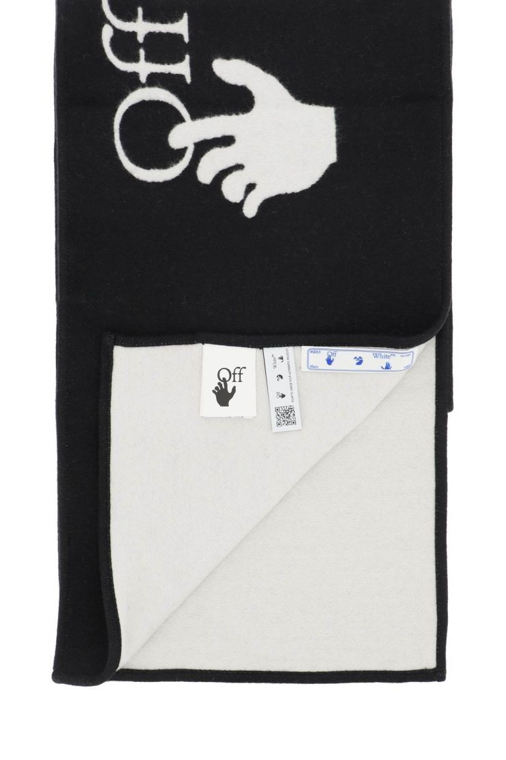 off-white scarves, hats and gloves wool blend scarf with logo