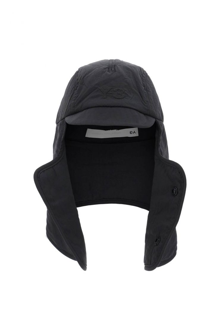 y-3 scarves, hats and gloves nylon cocoon hood