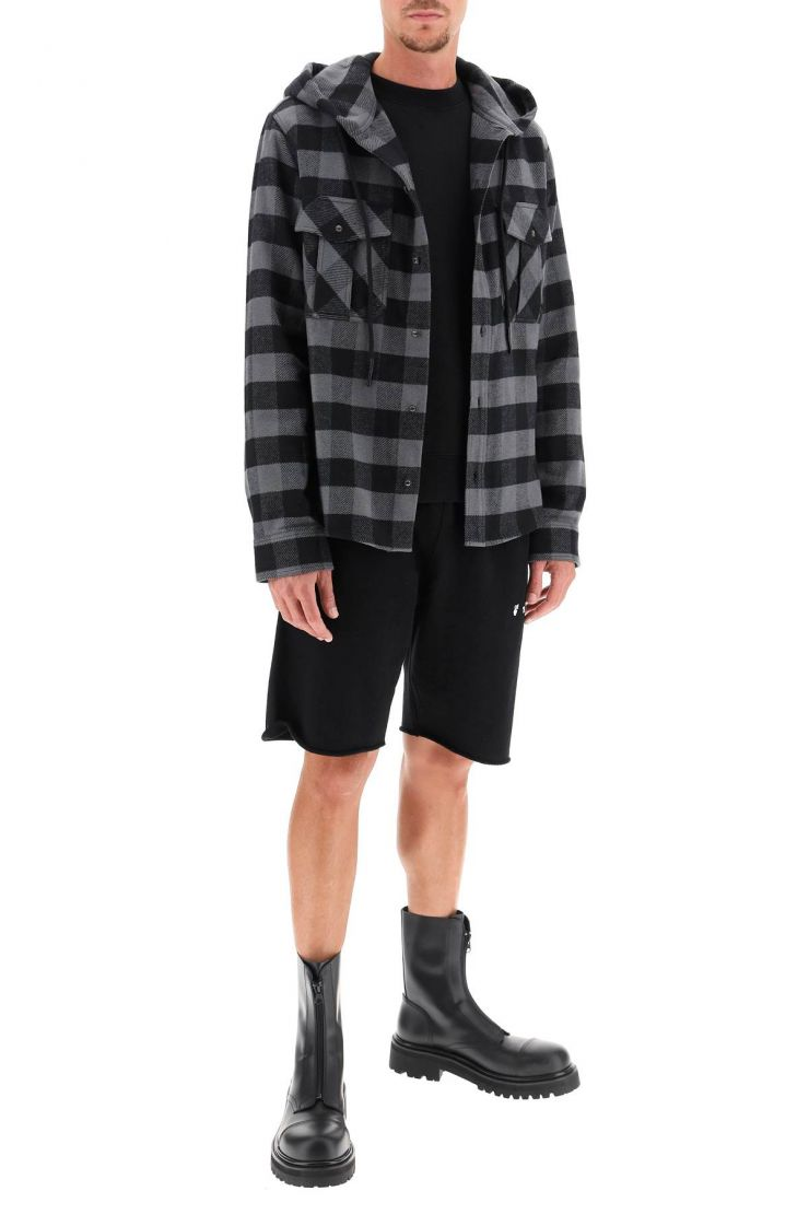 off-white shirts hooded flannel shirt