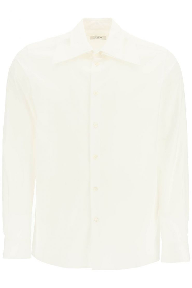 valentino shirts poplin shirt with removable wide collar