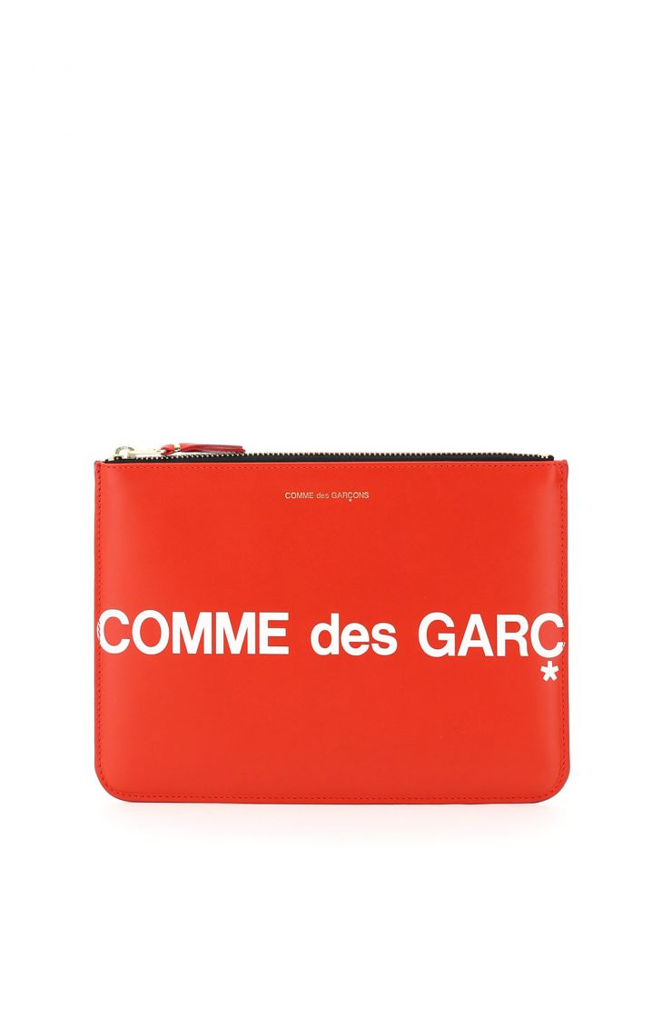 comme des garcons wallet small leather goods leather pouch with logo