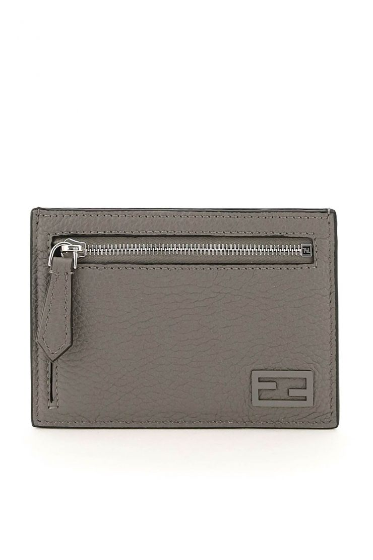 fendi small leather goods cuoio romano leather zipped card holder