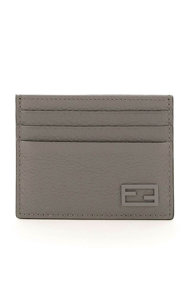 fendi small leather goods cuoio romano leather card holder