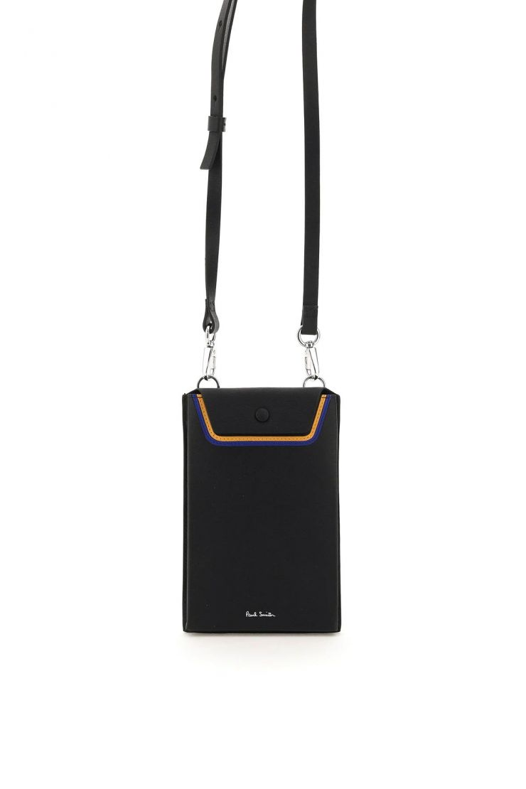 paul smith small leather goods leather phone pouch