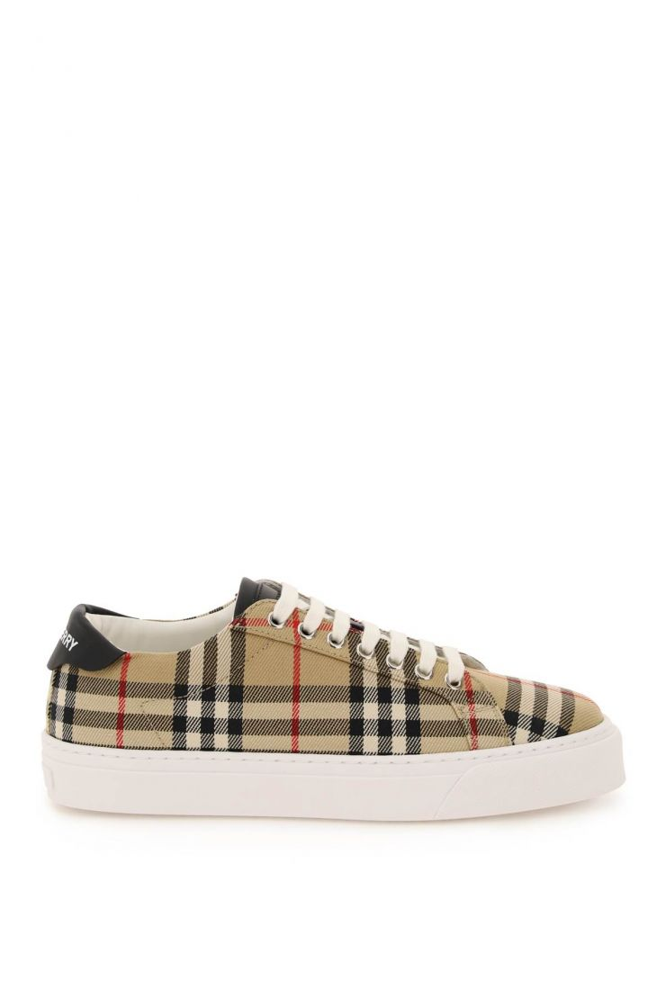 burberry bra481 vintage check canvas sneakers