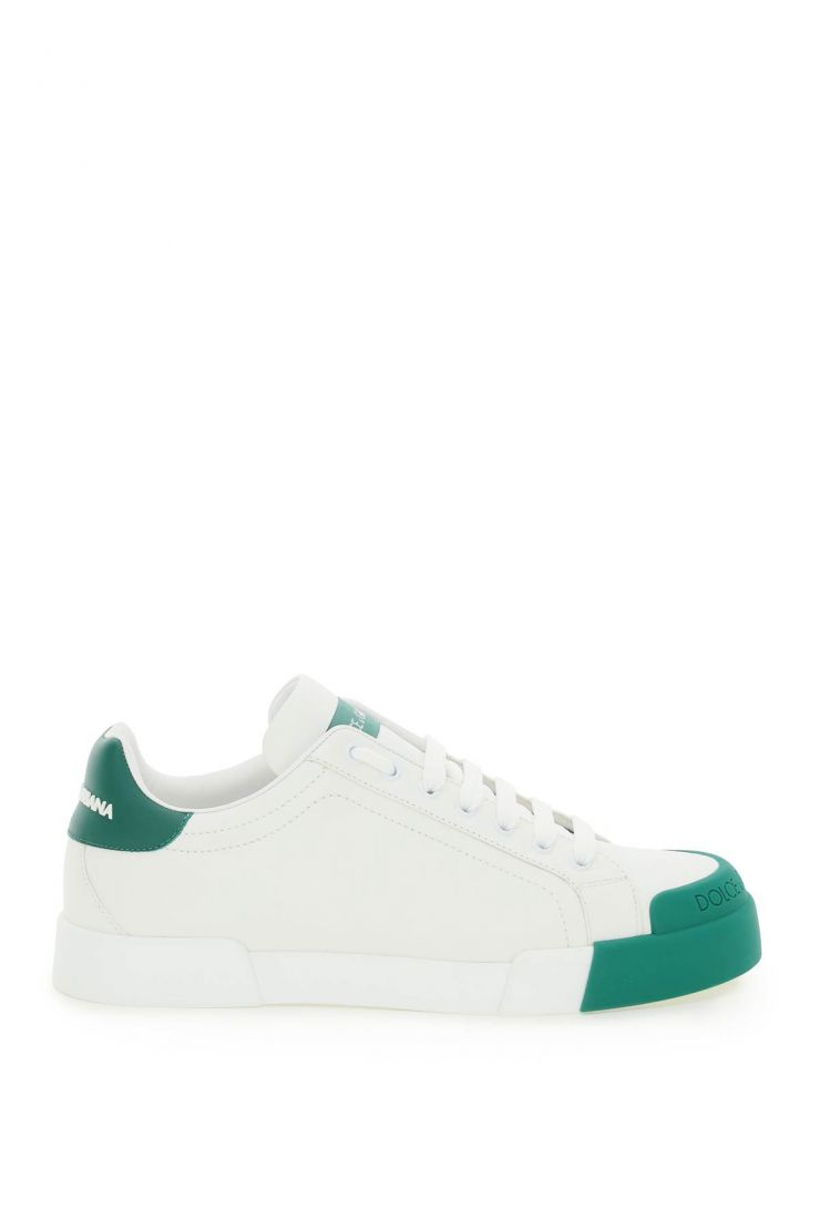 dolce & gabbana bra450 low-top leather sneakers