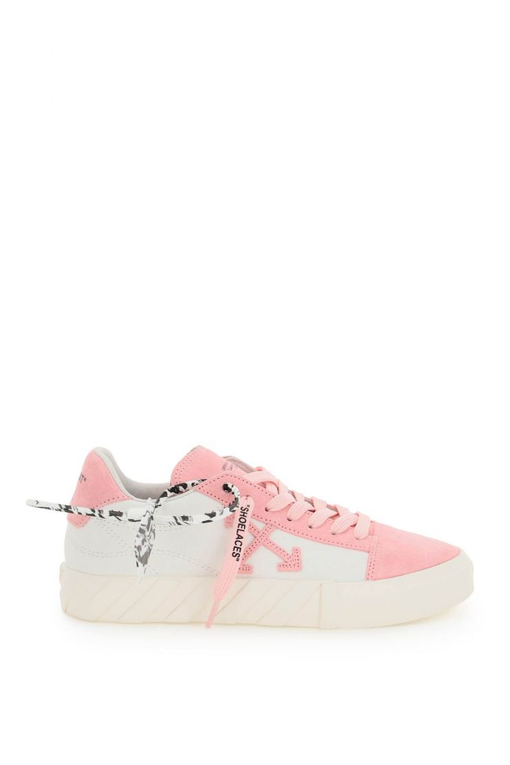 off-white sneakers low vulcanized canvas and suede sneakers