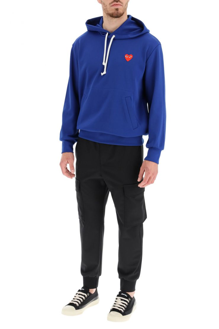 comme des garcons play sweaters hooded sweatshirt
