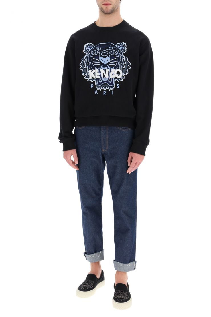 kenzo sweaters sweatshirt with tiger embroidery