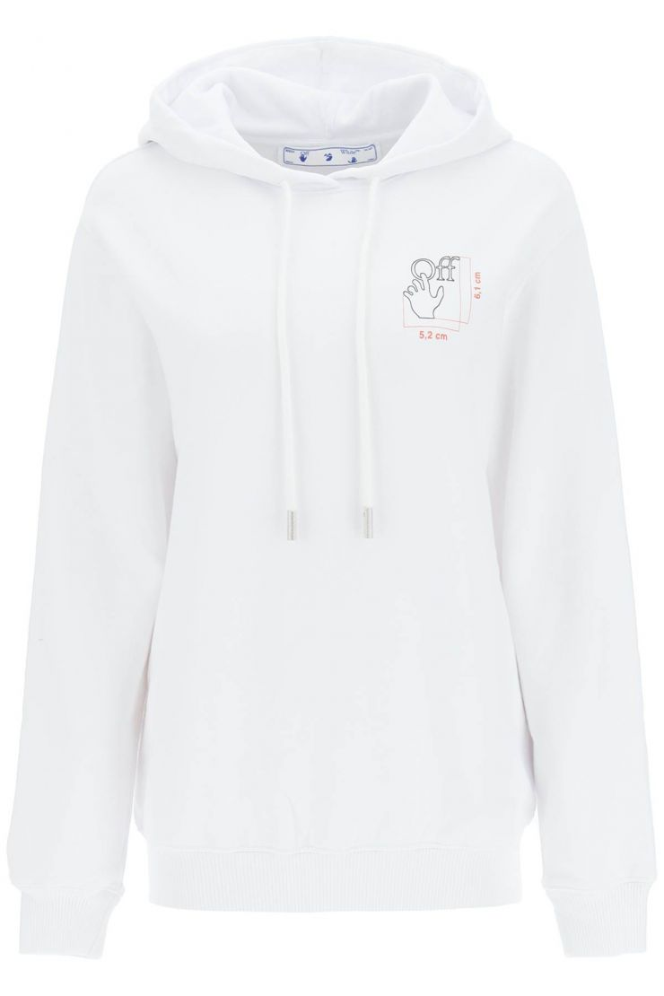 off-white tops quote hand logo hoodie