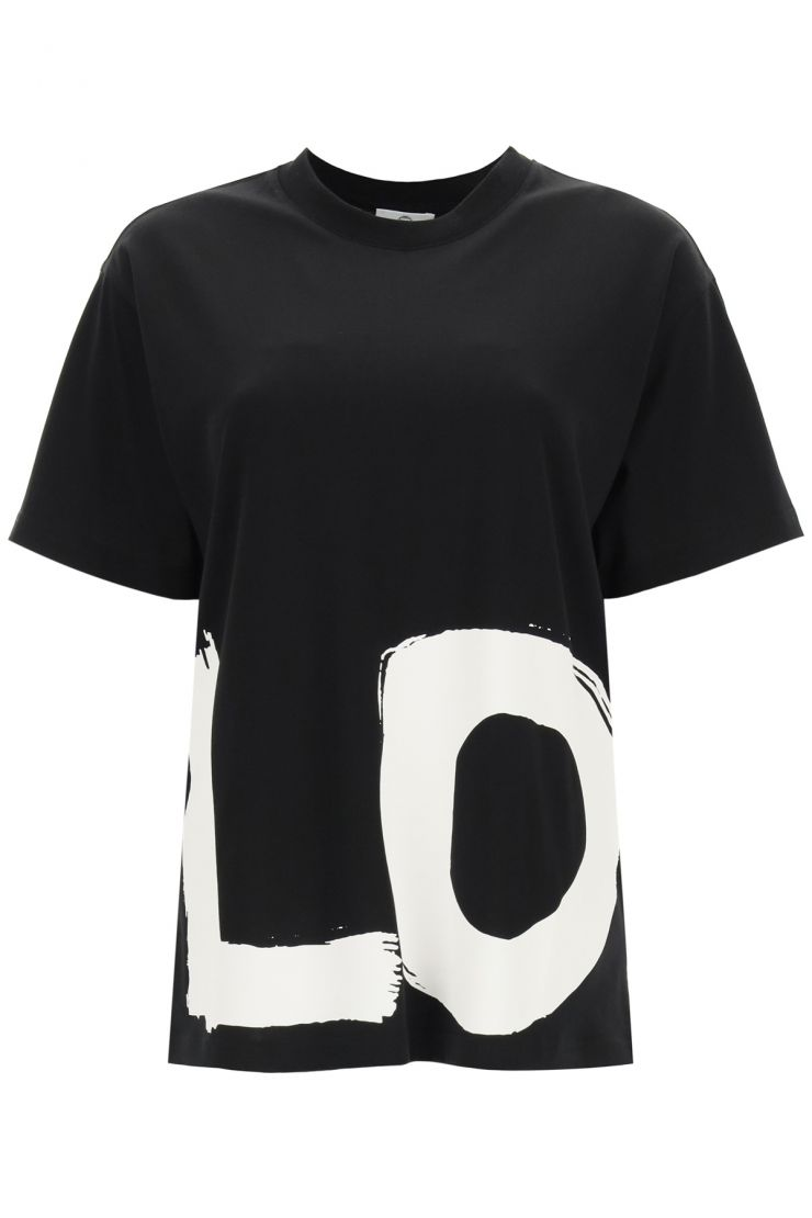 burberry t-shirts e polo t-shirt over carrick stampa love