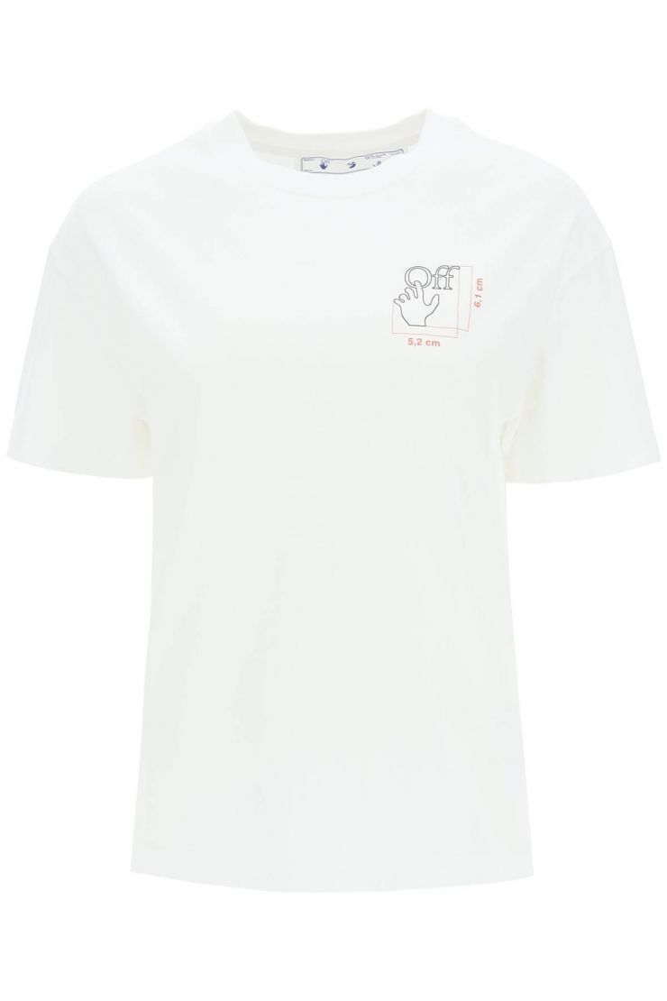 off-white tops quote hand t-shirt