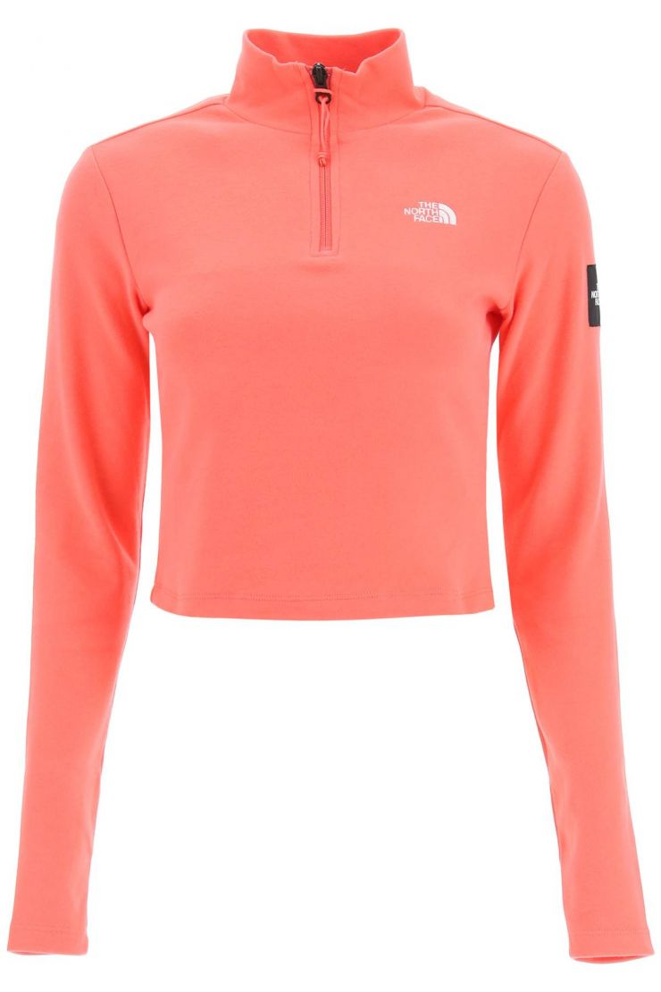 the north face tops mtn archives long-sleeved cropped t-shirt