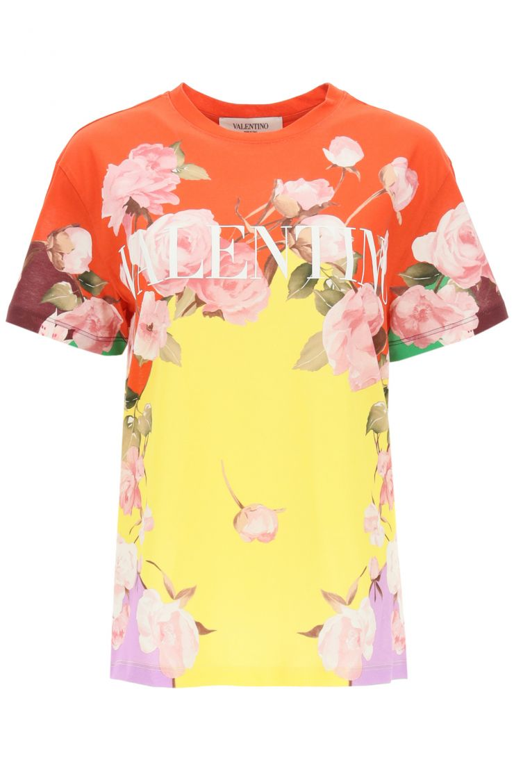 valentino t-shirts e polo t-shirt stampa flyng flowers
