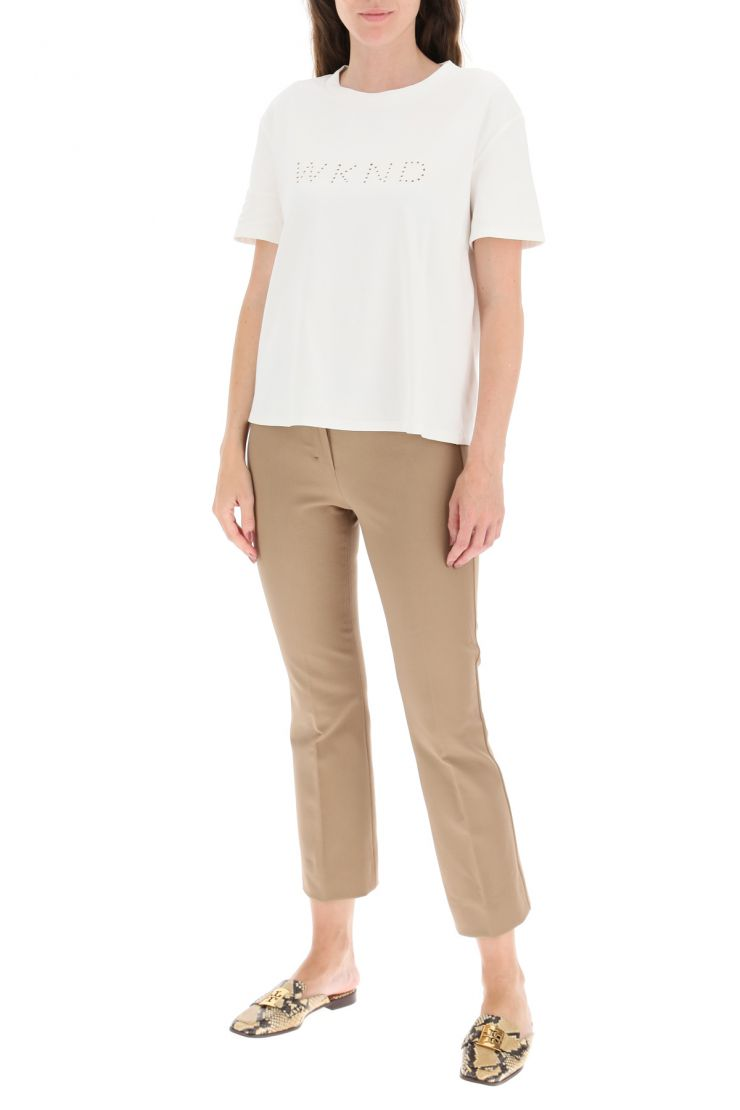 weekend max mara fashionable fitness  sonia t-shirt with wknd embroidery