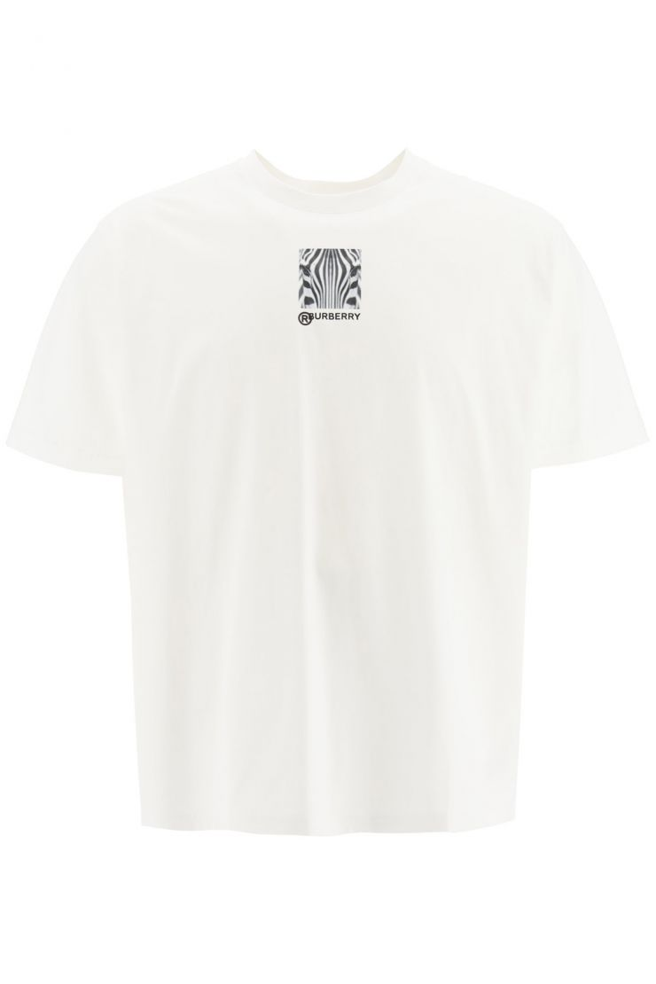 burberry bra481 t-shirt with collage print