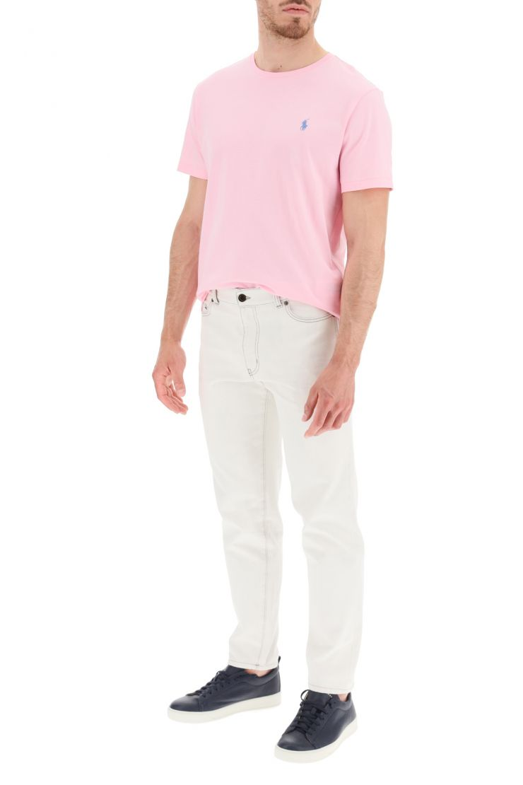 polo ralph lauren activewear for life t-shirt with logo embroidery