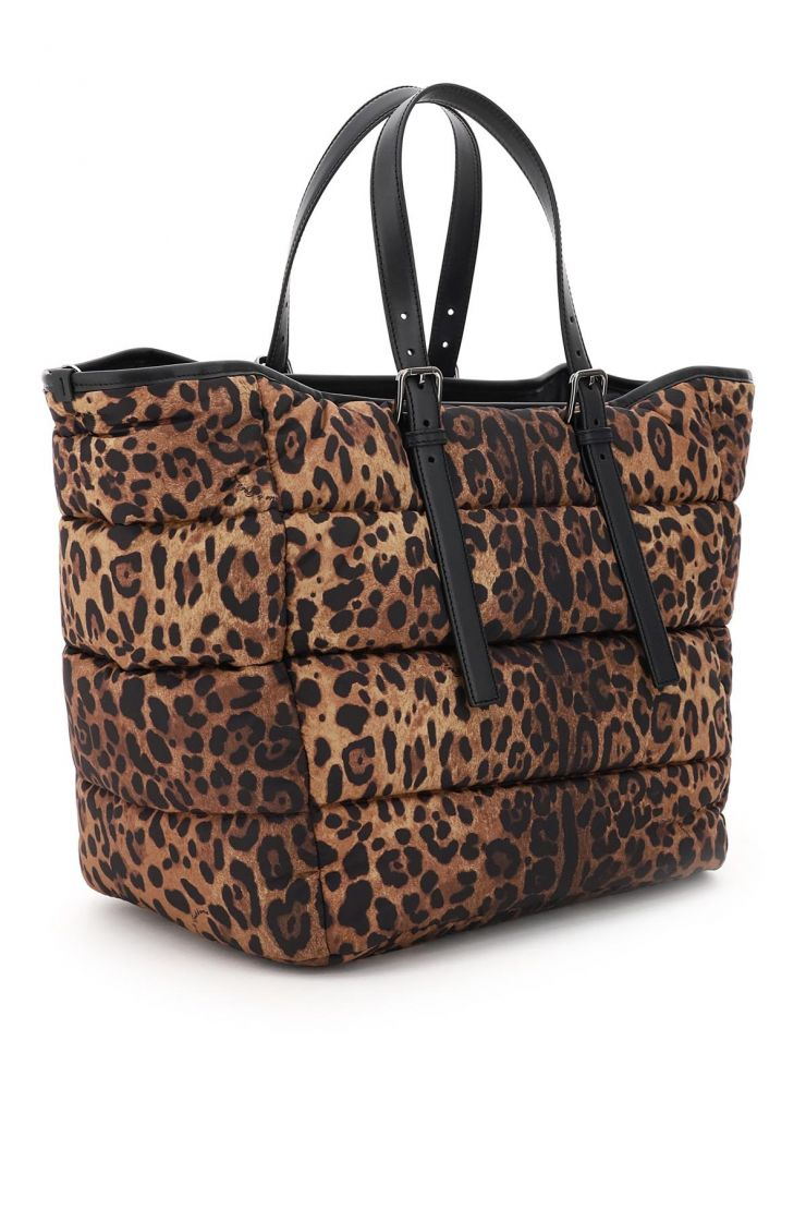 dolce & gabbana tote bags quilted nylon sicily shopper