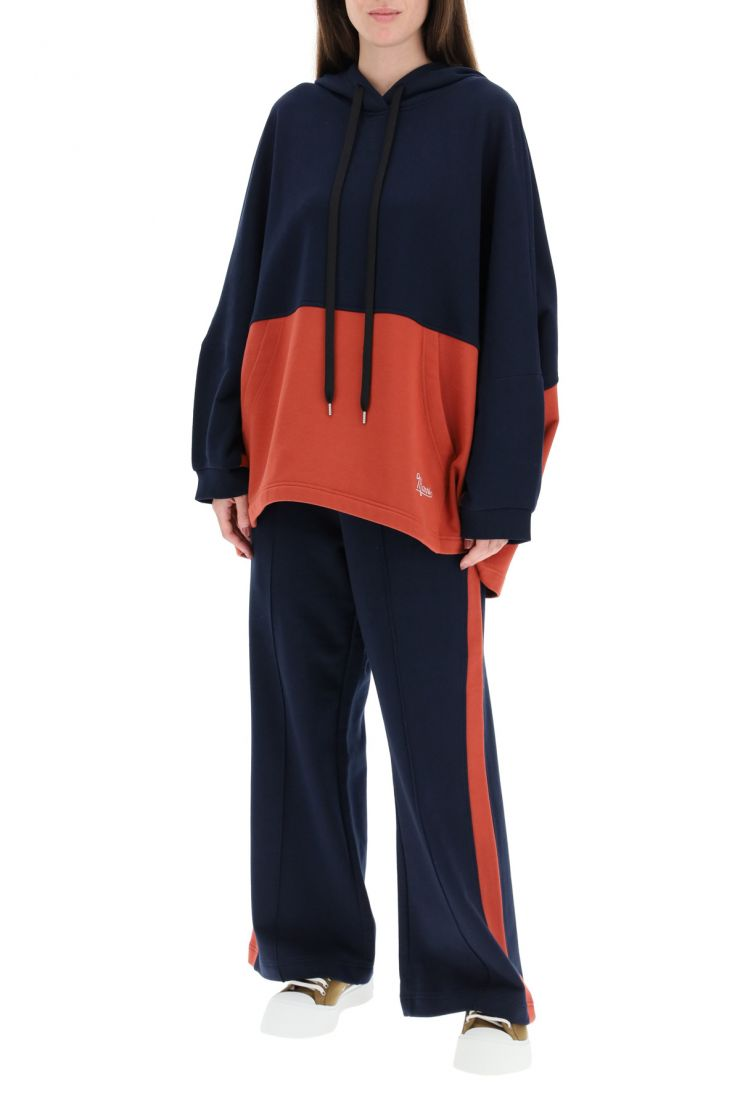 marni fashionable fitness  two-tone jogging trousers