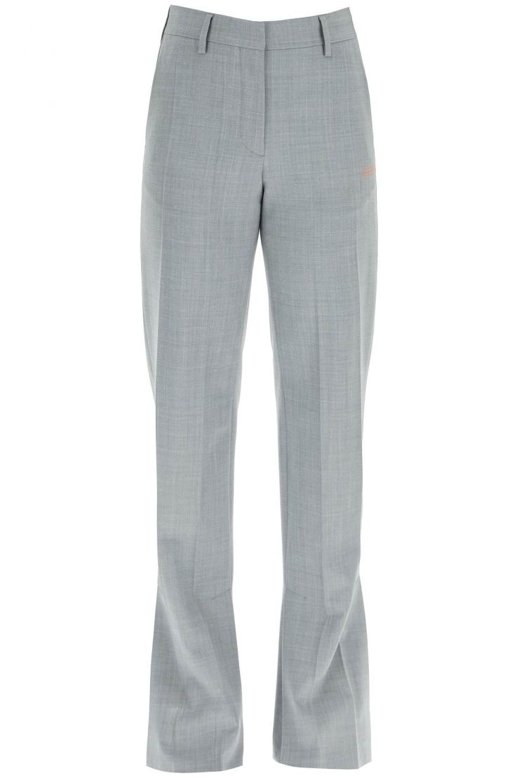 off-white trousers melange ironing trousers